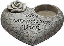 Klp Grabschmuck Grabstein Herz mit Spruch