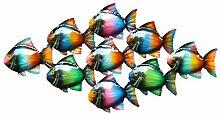Klp Wanddeko Fisch Zierfisch Schwarm Wandbild