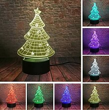 Klsoo 3D Weihnachtsbaum 7 Farbverlauf Led