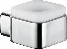Kludi KLUDI E2 Teelichthalter aus Opal-Glas chrom