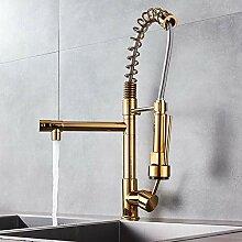 KLYBFN Moderne Messing Gold Küchenarmatur