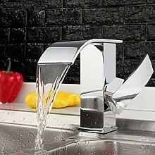 KLYBFN&N Chrom Messing Wasserfall Waschbecken