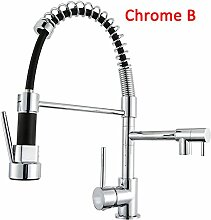 Klybfn&N Chrome Spring Kitchen Sink Wasserhahn Mit