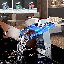 KLYBFN&N Led Änderungen Glas Wasserfall