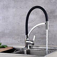 KLYBFN&N Silber Kupfer Black Rubber Kitchen Sink