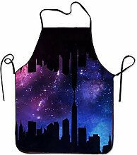 KLYDH City Aprons Printed Apron for Kitchen