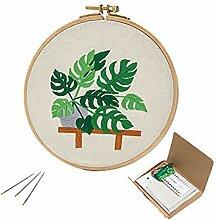 KM4U Stickset Pflanzen-Kreuzstich für