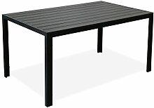 KMH Alu-Gartentisch *Tuco* schwarz 150 x 90 cm