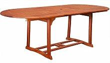 KMH®, ausziehbarer Gartentisch 180-230*100 cm aus