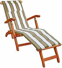 KMH®, Deckchair aus Eukalyptusholz (mit Auflage