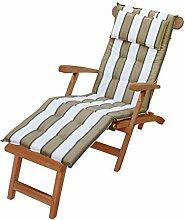 KMH®, Deckchair *Classic* echt Teak (mit Auflage