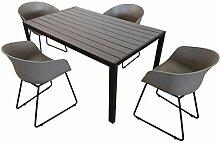 KMH®, Gartensitzgruppe: 1 Grauer Tisch 150 cm und