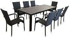 KMH®, Gartensitzgruppe: 1 Grauer Tisch 205 cm und