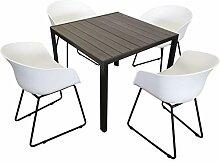 KMH®, Gartensitzgruppe: 1 Grauer Tisch 90 x 90 cm