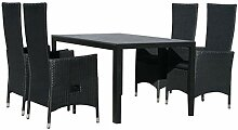 KMH®, Gartensitzgruppe: 1 schwarzer Tisch 150 cm