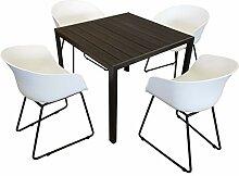 KMH®, Gartensitzgruppe: 1 schwarzer Tisch 90 x 90