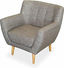 KMH®, Gemütlicher Sessel Usedom mit grauem