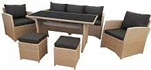 KMH®, große naturfarbene Gartensitzgruppe Lounge