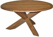 KMH®, Großer runder Gartentisch aus Teakholz