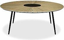 KMH, Ovaler Holzimitat-Tisch/Gartentisch