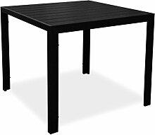 KMH®, Quadratischer Alu-Gartentisch Tuco 90 x 90