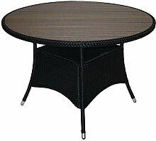 KMH®, Runder Gartentisch *Bobo* mit schwarzem