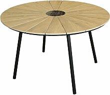 KMH, Runder Holzimitat-Tisch/Gartentisch