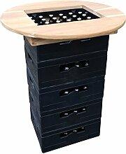 KMH®, Teak Bierkasten - Stehtisch / Tischaufsatz Ø = 80cm (#102156)