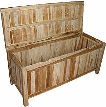KMH®, Teak Gartentruhe/Kissenbox/Auflagenbox