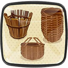 Knäufe für alte Korb, quadratisch, für Schrank,