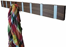 Knax 8 Garderobe Haken silber (Nussbaum geölt)