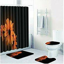 Knbob Badematte 6 Teilig Blumendrucken Stil 20 Wc