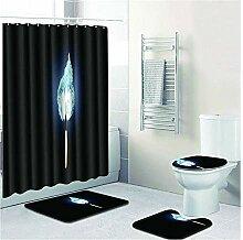 Knbob Badezimmer Teppich 4 Teilig Aurora Flame