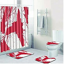 Knbob Badezimmer Teppich 4 Teilig Blutfleck Stil 4
