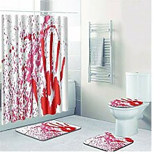 Knbob Badezimmer Teppich 4 Teilig Blutiger