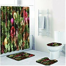 Knbob Badezimmer Teppich 6 Teilig Weihnachtsbaum