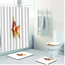 Knbob Badezimmer Teppich Set 5 Teilig Goldfisch