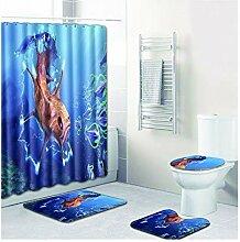 Knbob Badezimmer Teppich Set 6 Teilig