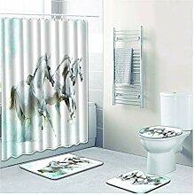 Knbob Badezimmer Teppich Set 7 Teilig Pferd Stil