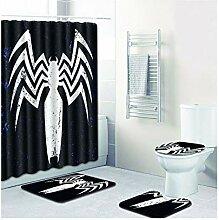 Knbob Badezimmerteppich 6 Teilig Spinne Stil 11