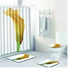 Knbob Badezimmerteppich 6Er Set Blumendrucken Stil