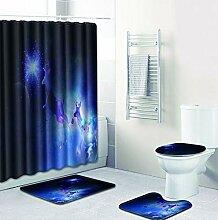 Knbob Badezimmerteppich 6Er Set Elchhirsch Stil 27