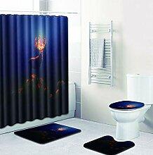 Knbob Badezimmerteppich 6Er Set Elchhirsch Stil 33