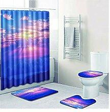 Knbob Badezimmerteppich 7 Teilig Das Leuchten Des
