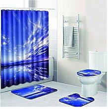 Knbob Badezimmerteppich 7 Teilig Meer Und Himmel