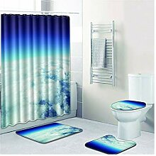 Knbob Badezimmerteppich 7 Teilig Weisse Wolke Stil