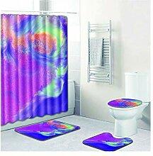 Knbob Badteppich Set 5 Aurora Style05 Wc Teppich