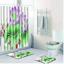 Knbob Badteppich Set 6Tlg Blume Stil 4 Wc Teppich