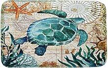 Knbob Badteppich Uni Schildkröte Schildkröte