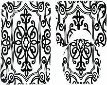 Knbob Badvorleger 3 Set Geometrisch Geometrisch Wc
